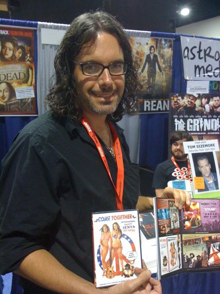 Charles Unger selling Come Together DVD's at Comic-Con 2010